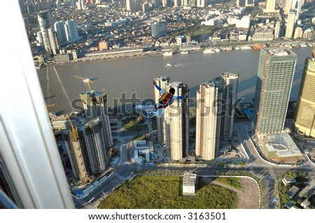 Building BASE Jumper in Shanghai