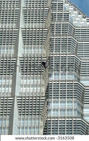 Building BASE Jumper in Shanghai