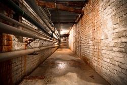 building basement corridor