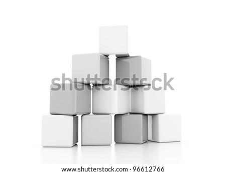 building block silver white