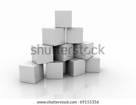 Building blocks blank - stock photo