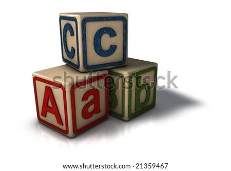 building blocks cartoon. stock photo : Building blocks
