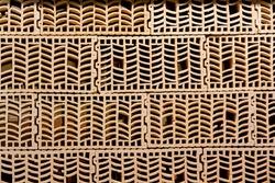 Building bricks with voids inside.