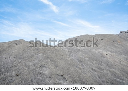 Building cement sand and gravel aggregate Foto stock ©