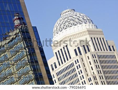 Building composition - center of Louisville, Kentucky, USA - stock photo
