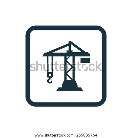 Building Crane Icon Rounded