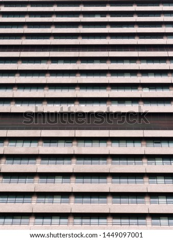 Building exterior of a crowded estate apartments #1449097001