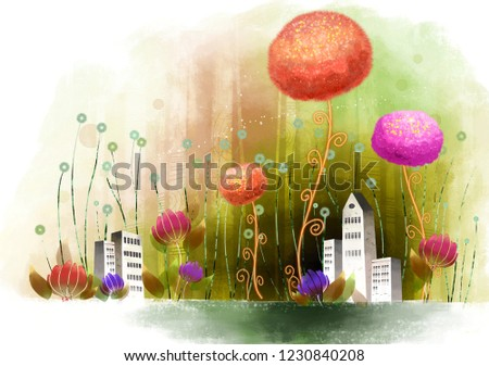 Building Exterior with flora Photo stock ©