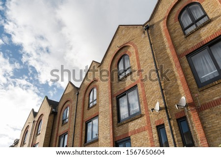 Building exteriors in a residential district in London #1567650604