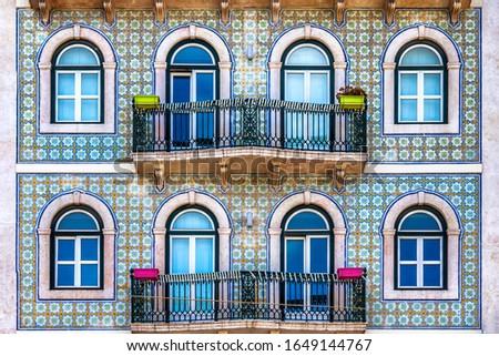 Building facade in Lisbon, Portugal