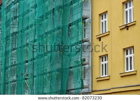 Building facade renovation, house reconstruction, repair.