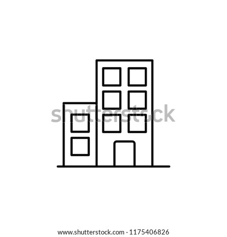 building icon. Element of building and landmark outline icon for mobile concept and web apps. Thin line building icon can be used for web and mobile