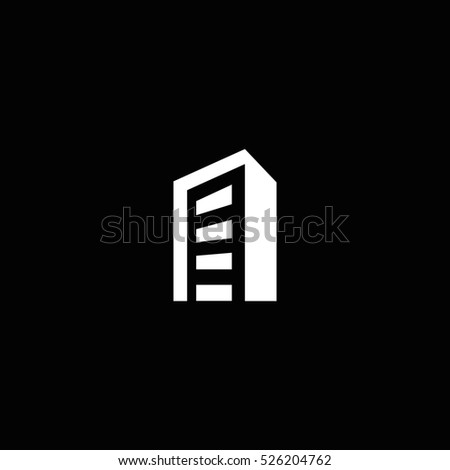 building icon, isolated, white background