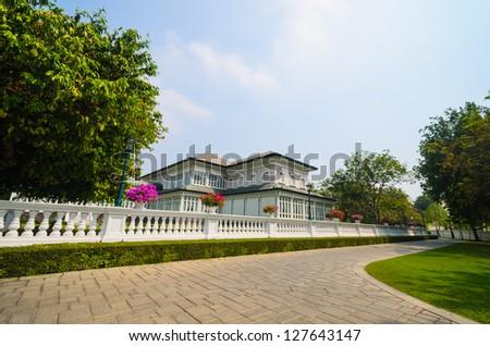 Building in bang-pa-in park at ayutthaya province (thailand)