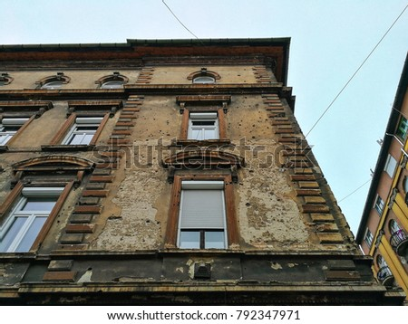 Building in Budapest that was damaged in 1956 revolution