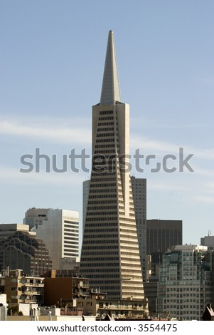 Building in San Francisco, a national Landmark also known as the pyramid building