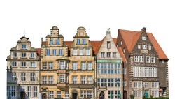 Building in the city of Bremen (Germany) isolated on white background