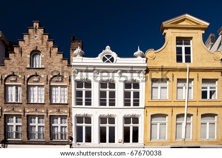 building in the old town of bruges, belgium