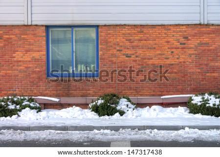 building in winter season