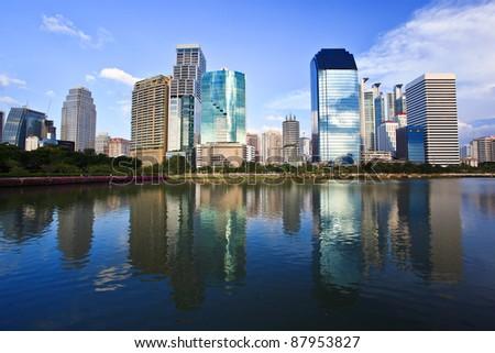 Building landscape reflection