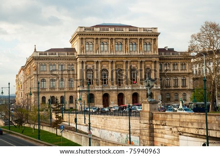Building of Academy of Science (MTA), Budapest, Hungary