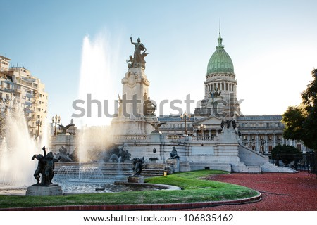 Shutterstock Building of Congress and the fountain in Buenos Aires, Argentina