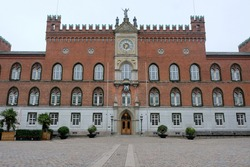 Building of Odense Town Hall, 1880, Odense, Denmark