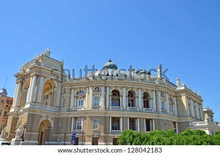 Building of public opera and ballet theater in Odessa, Ukraine