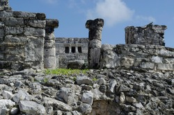 Building of the great palace in the archaeological zone of Tulum