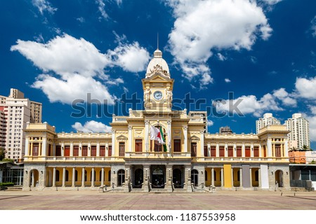 Building of the Museum of Arts and Crafts at the Station Square in Belo Horizonte, Minas Gerais, Brazil.