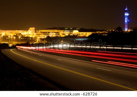 Building of University of South Africa in Pretoria, South Africa at night time