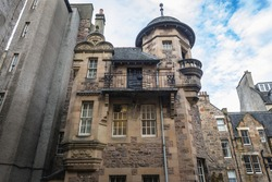 Building of Writers Museum in the Old Town of Edinburgh city, Scotland, UK