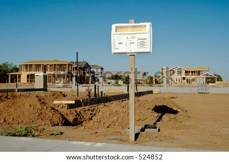 Building Permit Sign In A Residential Home Construction ...