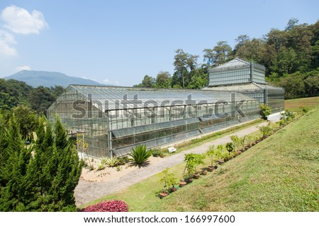 Building plants cultivation arranged for the collection of plant species