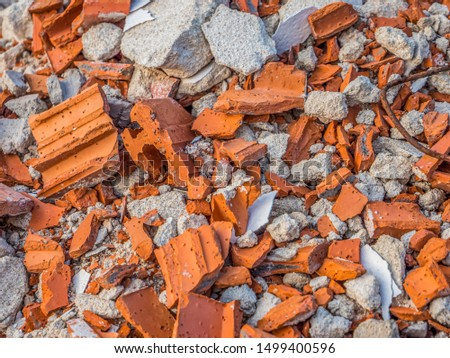 Building rubble texture construction site brick