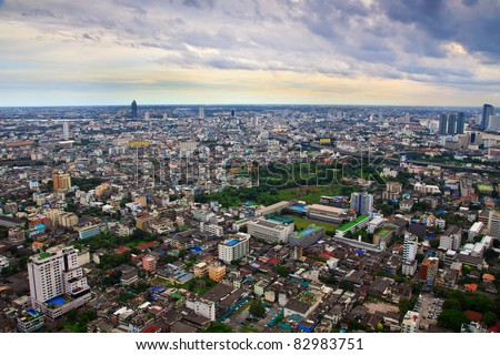 Building scape of bangkok city in Thailand