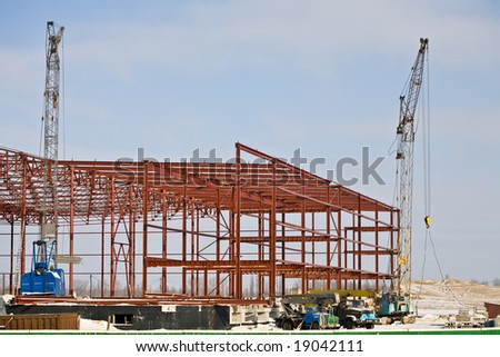 building series: industrial site under construction in winter - Shutterstock ID 19042111