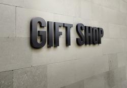 Building signage 'Gift Shop'.