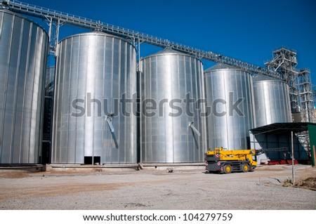 building silver silo stock photo 104279759 shutterstock