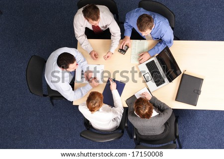 building strategy - business people meeting