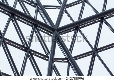 building structure, texture of triangle pattern of building wall glass structure - Shutterstock ID 242788996