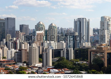 Building the city of Sao Paulo, South America Brazil  #1072645868