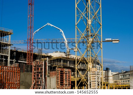 building under construction - Shutterstock ID 145652555