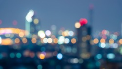 Building With Blurred Colorful Bokeh Background