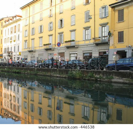 Buildings along Milan Canal