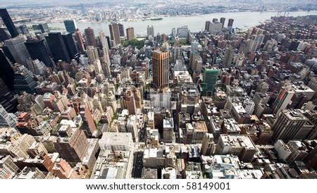 Buildings and City Skyline of a huge Metropolis #58149001