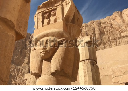 Buildings and columns of ancient Egyptian megaliths. Ancient ruins of Egyptian buildings #1244560750