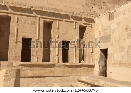 Buildings and columns of ancient Egyptian megaliths. Ancient ruins of Egyptian buildings #1244560795