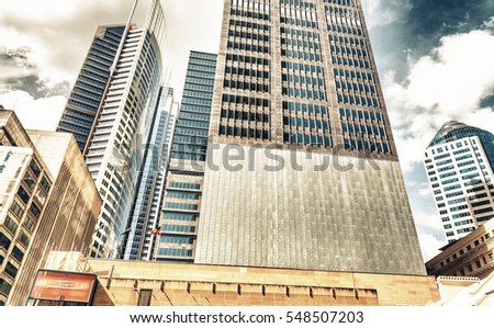 Buildings and skyline of Sydney, New South Wales. #548507203