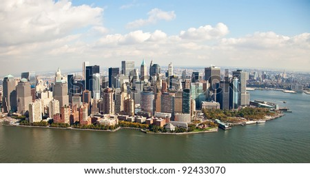 buildings and skyscrapers of Manhattan